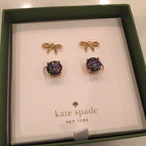 NWT 🎁 Kate Spade Boxed Set Bow & GumdropEarrings